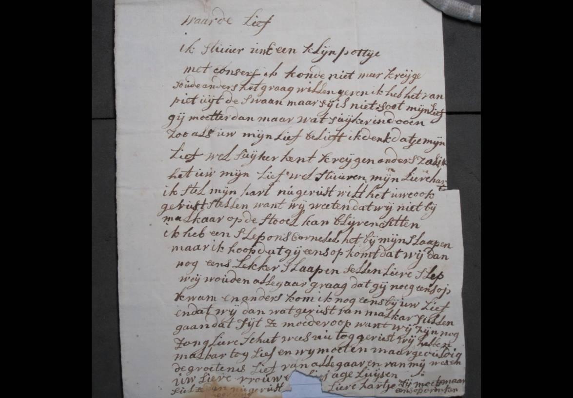 Brief 1 van Aagje Luijtsen aan Harmanus Kikkert.
