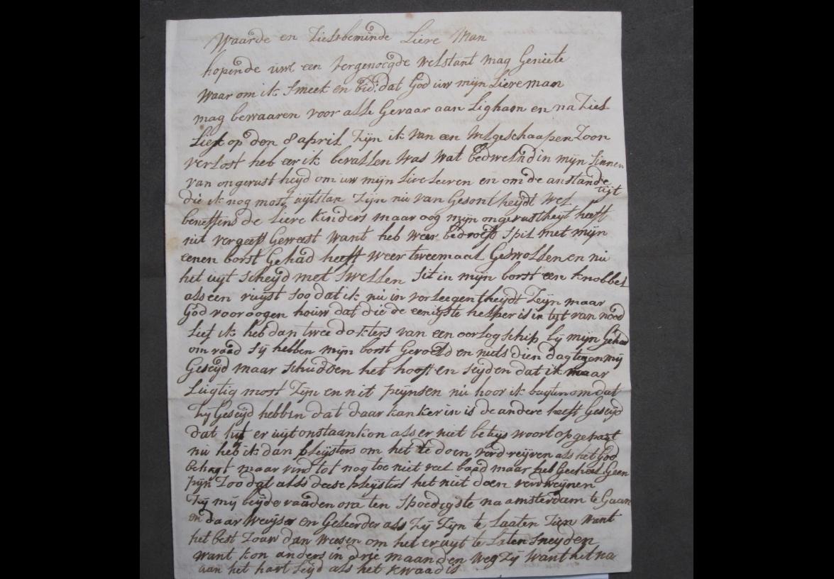 Brief 16 van Aagje Luijtsen aan Harmanus Kikkert.