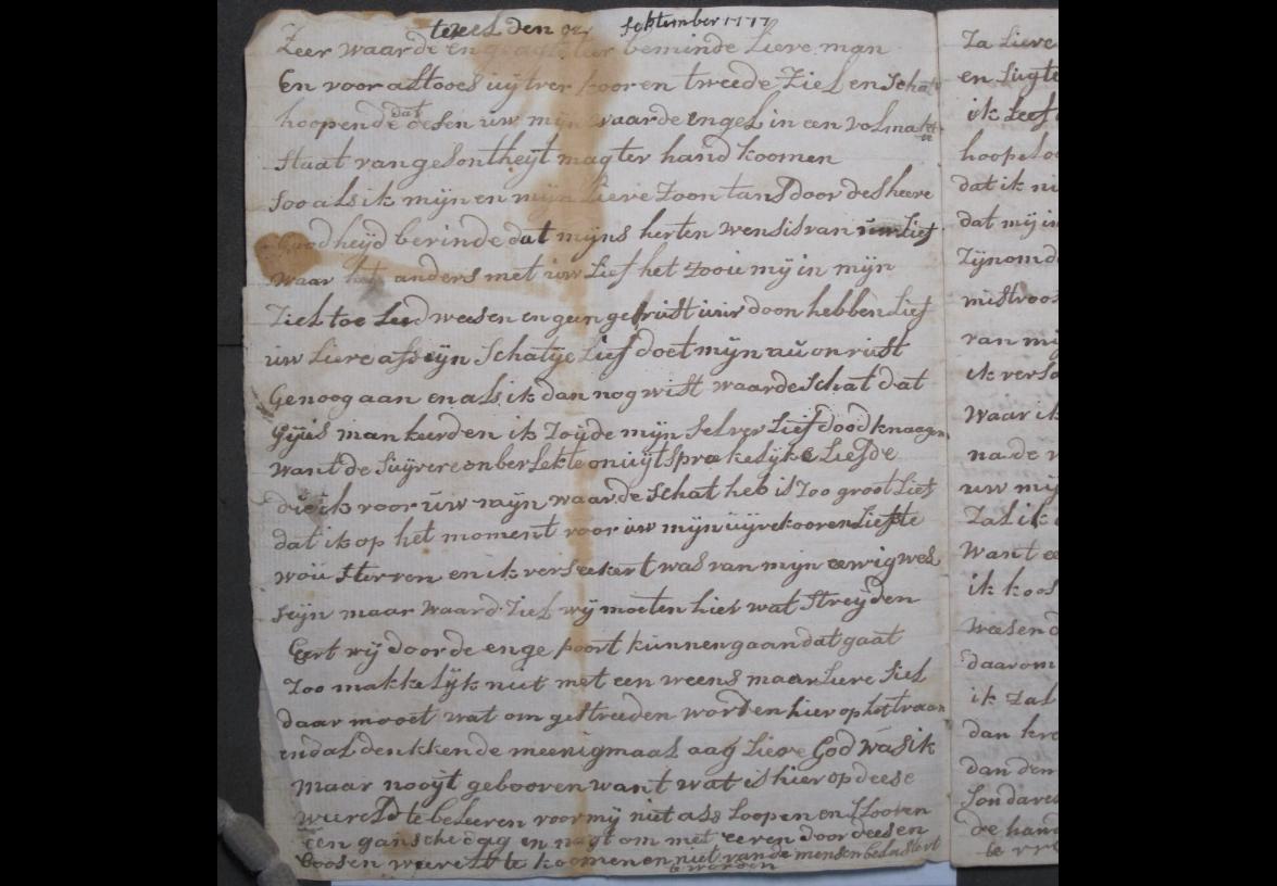 Brief 4 van Aagje Luijtsen aan Harmanus Kikkert.