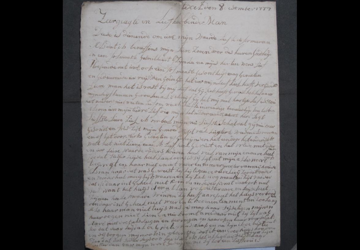 Brief 7 van Aagje Luijtsen aan Harmanus Kikkert.